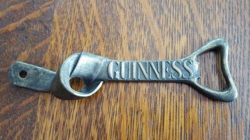Guinness Stout Vintage Brass Tied Knot Hanging Beer Bottle Opener Mount