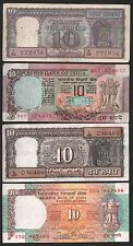indian  currency  10 + 10 + 10 + 10  rupees MINI  FOUR  notes  set