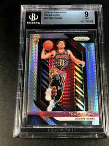 TRAE-YOUNG-2018-PANINI-PRIZM-78-HYPER-REFRACTOR-ROOKIE-RC-BGS-9-HAWKS