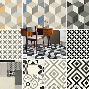 Pattern-Vinyl-Flooring-Modern-Cubes-Retro-Tiles-Kitchen-Bathroom-Lino-2m-3m-4m