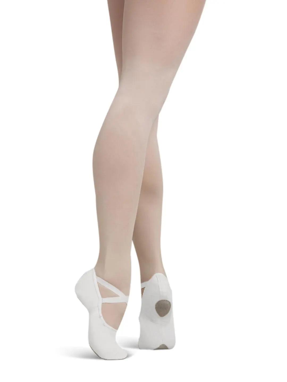 White capezio cobra 2030 canvas split sole ballet shoes - all sizes