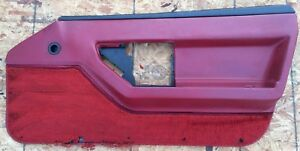 Interior Door Panel Rh Passenger Red 1984 Oem Corvette C4 Issues