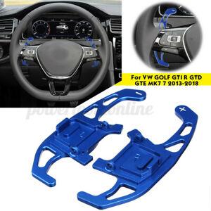 Paire-Bleu-Extension-Palette-Volant-pour-VW-GOLF-GTI-R-GTD-GTE-VII-7