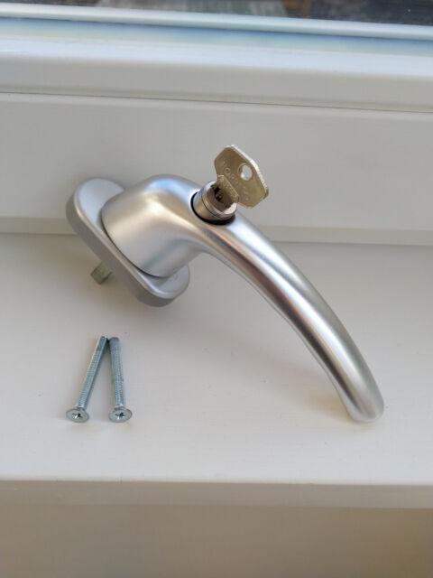 Hoppe Fenstergriff Tokyo abschließbar Stift 35mm Aluminium 0710S/U26 silber NEU