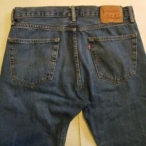Levis-505-Men-039-s-34x30-Medium-Wash-Straight-Leg-Denim-Jeans-Meas-34x29