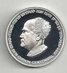 ISRAEL-1986-DAVID-BEN-GURION-CENTENNIAL-OF-BIRTH-MEDAL-26g-SILVER