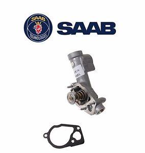 Saab 9-3 2006 2007 2008 2009 V6 2.8L Engine Coolant Thermostat Genuine 12597258