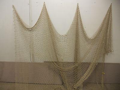 RECYCLED FISHING NET #4641-43 10/'X10/' TAN NAUTICAL NET DECOR-DECK-YARD-MARITIME