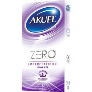 Preservativi XL Sottili Akuel Zero KingSize ultrasottili e resistenti extralarge