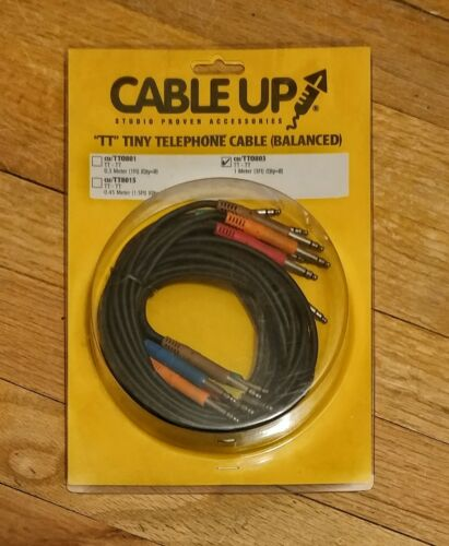 """TASCAM CABLE UP cu//TT0803 3 ft /""""TT/"""" Tiny Telephone Patch Cables Package Qty 8"""