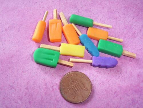 3 Muñecas Miniatura hielo Piruletas alimentos 6th Escala
