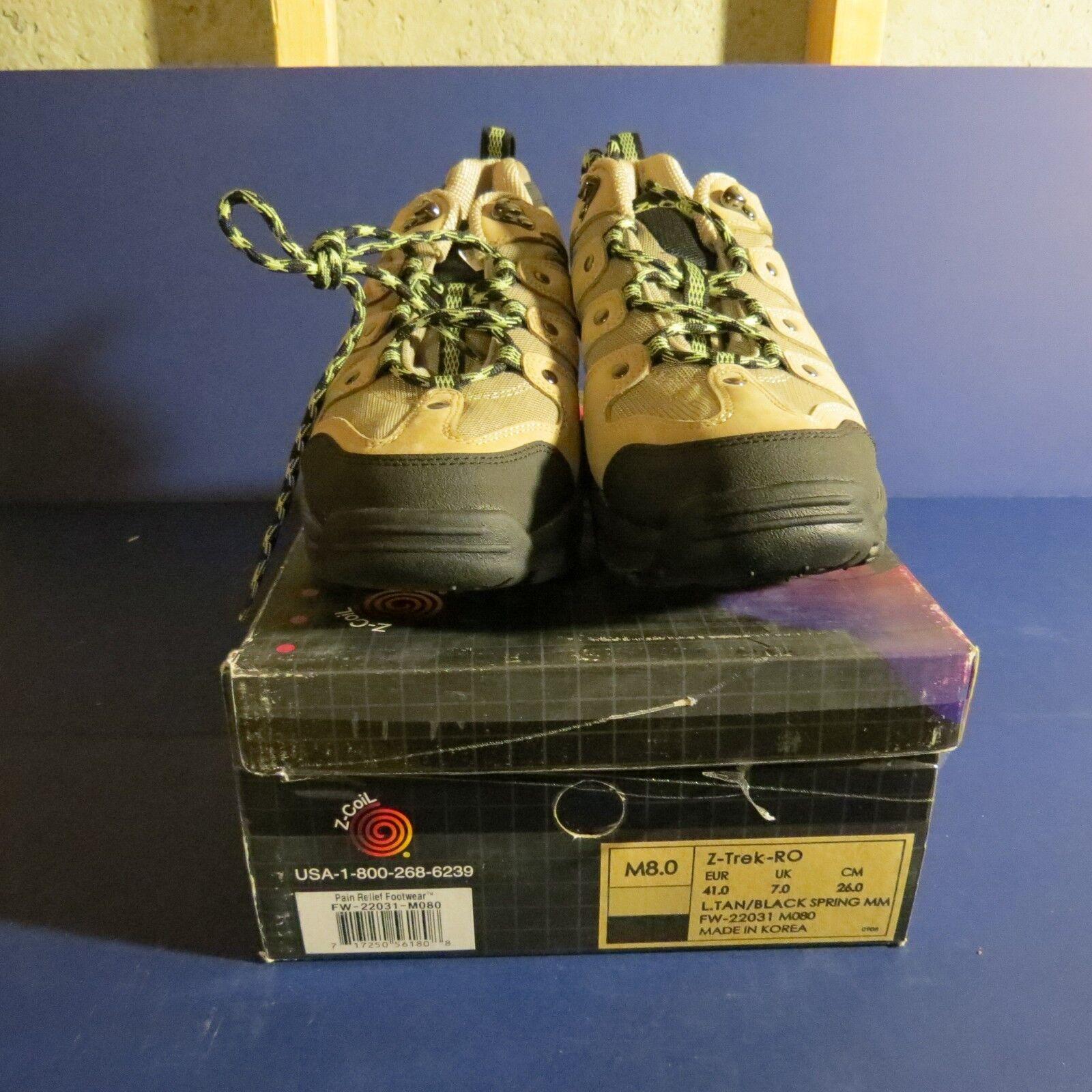NEW Z-coil pain relief relief relief footwear mens 8 damen 9.5 tan z-trek tan Farbe vintage 365c2c