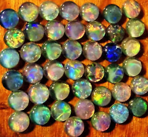 OPAL-TRIPLETS-FOR-STUDS-OR-EARRINGS-50-of-5-mm-C-GRADE-CABOCHONS-20-carats