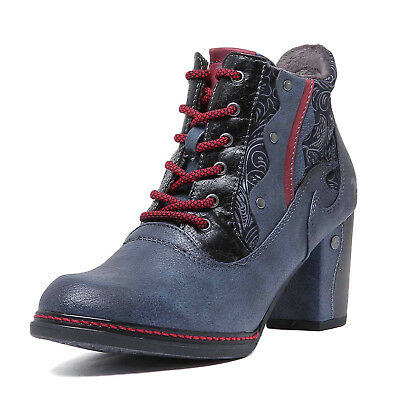 floral high heel ankle boots size