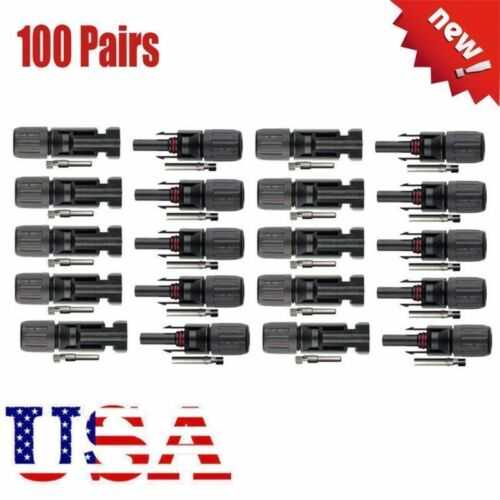 10-100 pairs 30A Male Female M//F Wire PV Cable Connector Set Solar Panel US