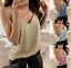 thumbnail 1 - Womens-V-neck-Sequin-Vest-Tank-Summer-Fashion-Blouse-Beach-Camisole-Shirts-Tops