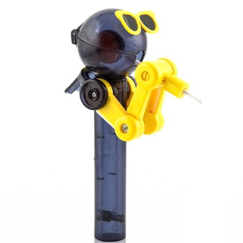 Lollipop holder decompression toys lollipop robot dustproof creative toy gift