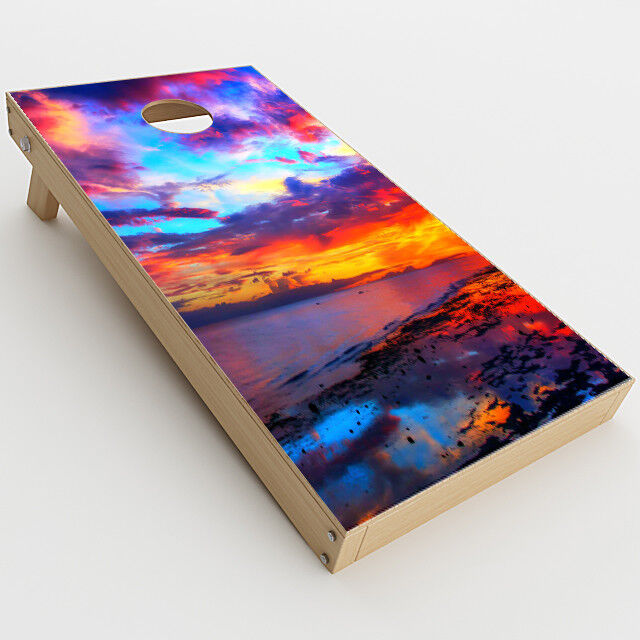 Skin Decal  for Cornhole Game Board Bag Toss (2xpcs.)   Beautiful Landscape Wat