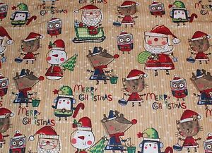 NEW-Christmas-Print-Scrub-Top-5X-Santa-Critters