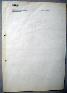 BRAUN-LV1020-Schaltplan