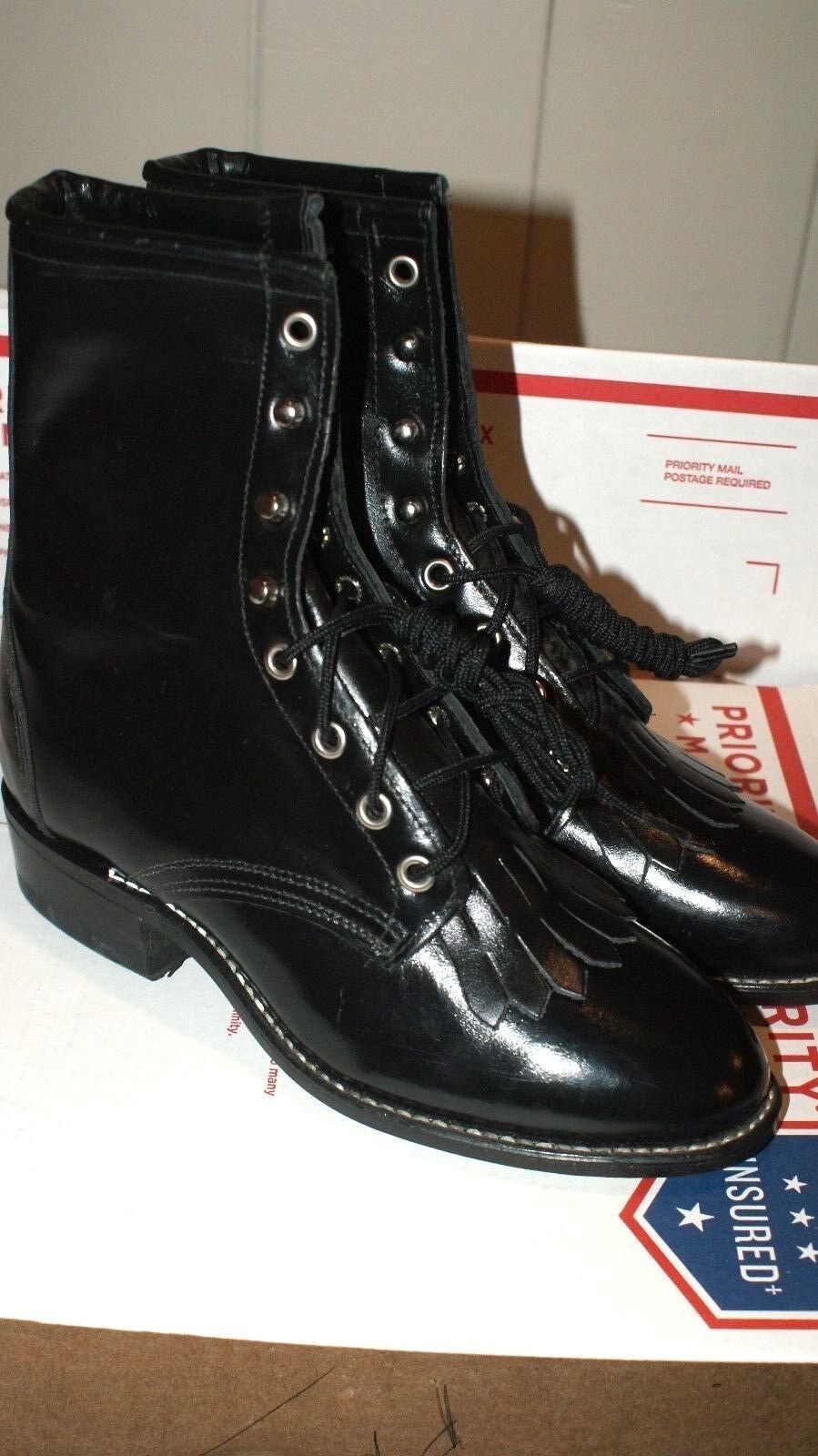Womens Laredo Logger Cowboy Western Boots Sizes 5 5.5 6.5 M NEW NWOB Round Toe