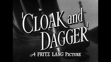 CLOAK AND DAGGER, 1946, GARY COOPER, FRITZ LANG spy thriller: DVD-R Region 2  ^