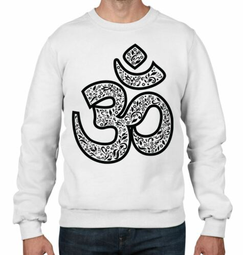 Om Symbol Large Print Meditation Men/'s Sweatshirt Jumper