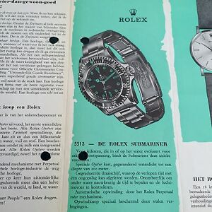 01609a45aa Image is loading ROLEX-Vintage-1964-Brochure-Catalogue-Submariner-5508-1675-