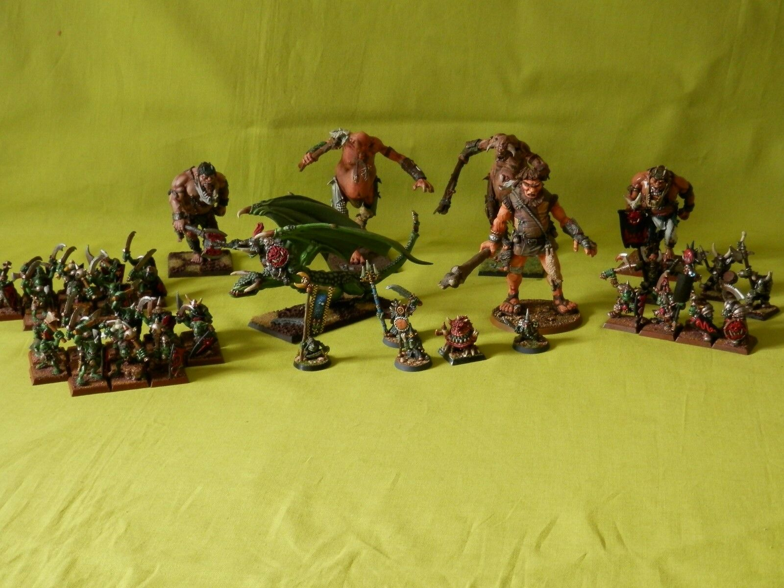 WARHAMMER ORCS & GOBLINS ARMY WELL PAINTED - MANY UNITS TO CHOOSE FROM