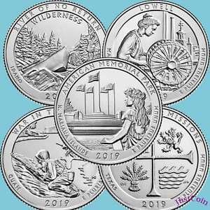 2018-P/&D National Park Quarters 10 Coin Set