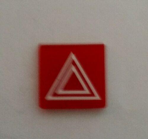 TRACTOR ROCKER SWITCH RED HAZARD WARNING SYMBOL 245916C1