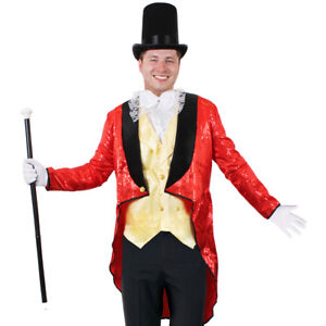 Mens Greatest Showman Costume Pt Barnum Fancy Dress Tv Film