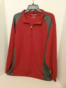 Mens-Athletic-Warm-Up-Jacket-XXL-Golf-Pull-Over-Shirt-Cypress-Club-Performance