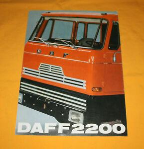 DAF-F-2200-1971-Prospekt-Brochure-Depliant-Prospetto-Catalog-Prospecto-Folder