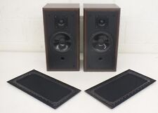 Polk Audio M4.5 High-Quality 2-Way Bookshelf Speakers Brown Wood Grain Cabinets