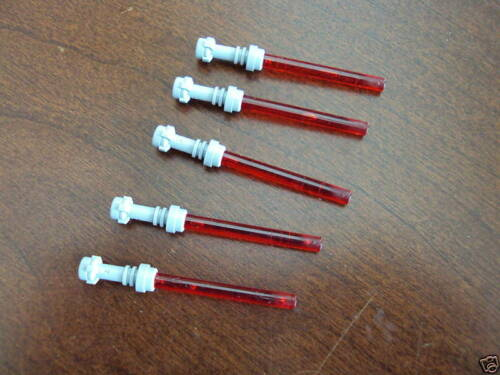 Lot Of 5 Star Wars Red Lightsabers Hilt Lego Minifig