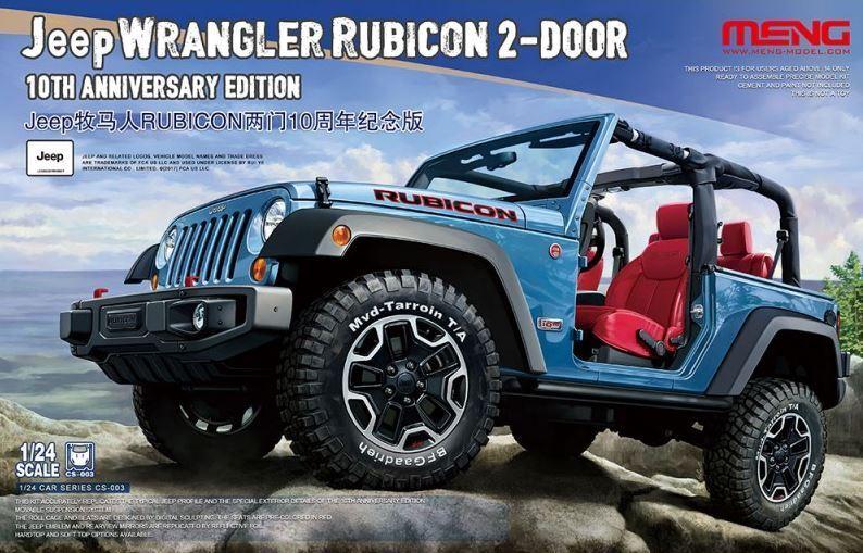 Meng 1 24 Jeep Wrangler Rubicon 2-Door 10th Anniversary Edition CS-003