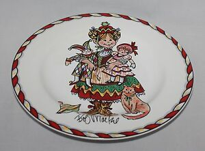 Sakura Christmas Party.Details About Salad Dessert Plate Bob Mackie Santas Party Sakura Christmas Girl With Dolls