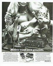 Publicité Advertising 037  1975  Micro magnéto Sony TC 67  radio RMC  & RTL