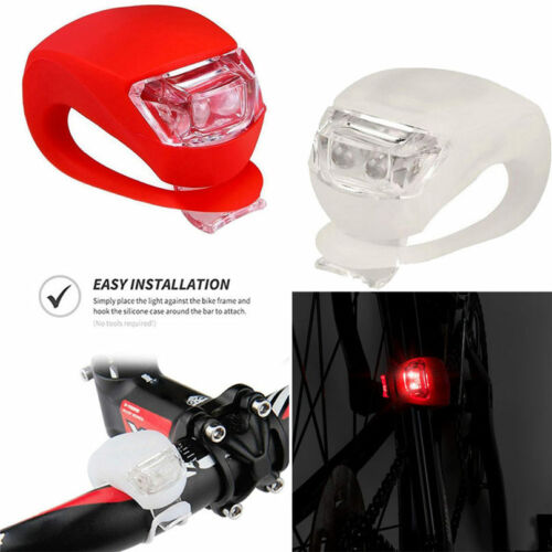 2pcs Ultra Bright Clip On Bike Lights Bicycle LED Lamp Night Riding Safety