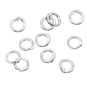 Lot 100 Anneaux double de jonction Doré 5mm colier Creation bijoux 5 mm ...
