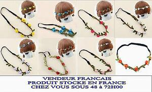 Bandeau Cheveux Couronne Fleurs mariage fiançaille serre tete femme floral  Z 10