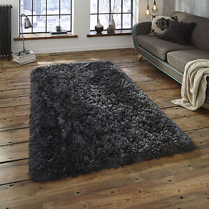 MODERN-SMALL-X-LARGE-8-5cm-THICK-DENSE-PILE-CHARCOAL-GREY-LUXURY-SOFT-SHAGGY-RUG