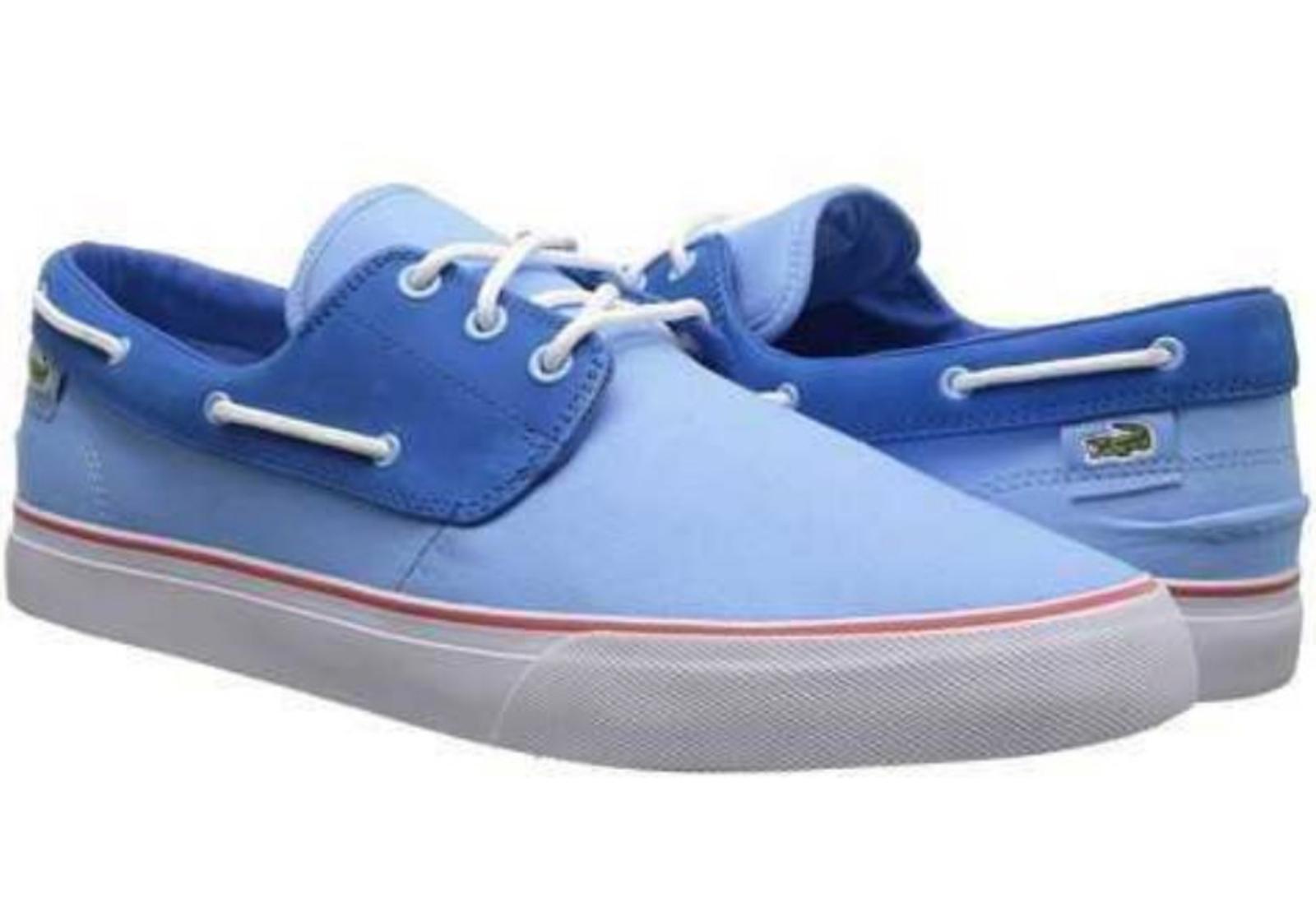 Lacoste Barbuda PS LEM Canvas # 7-27LEM330152C Light Blau - Sneaker Men SZ 8 - Blau 13 1116d8