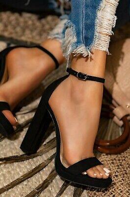 Details about  /Fashion Women Super High Heels Ankle Strap Platform Shoes Open Toe Suede Sandals