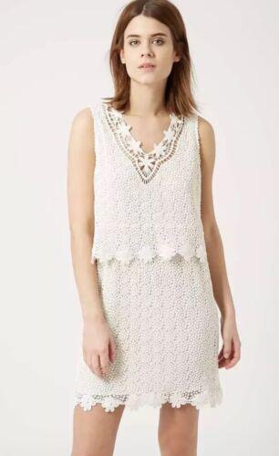 TOPSHOP CREAM CROCHET DRESS 8 BNWOT RRP £48