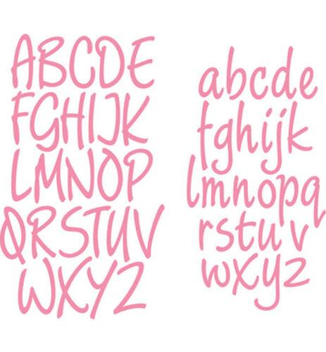 """Stanzschablone /""""Charming Alphabet/"""" Design Groß- und Kleinbuchstaben von Mar"""