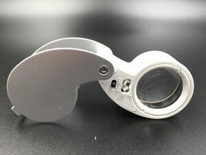 40x25 Fach Juwelier Vergrößerungsglas Uhrmacher Glas Lupe Mit Led Licht Labor SchöNer Auftritt