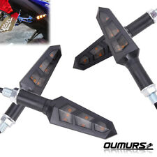4x Universal Motorcycle Bike LED Amber Turn Signal Blinker light Indicators USA