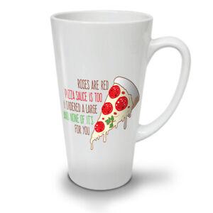 Roses Large Pizza NEW White Tea Coffee Latte Mug 12 17 oz   Wellcoda
